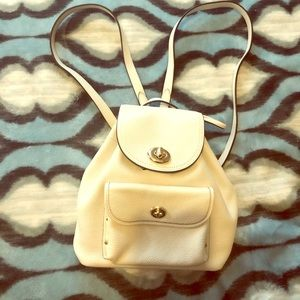 Original Coach backpack- white. Gently used